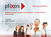 Global sourcing of software development - a review of tools and services