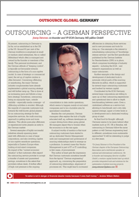 Outsourcing - A German perspective
