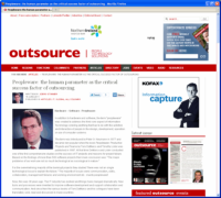 Peopleware - the Human Parameter as the Critical Success Factor of Outsourcing