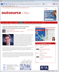 How do small and medium-sized enterprises (SMEs) best benefit from outsourcing?